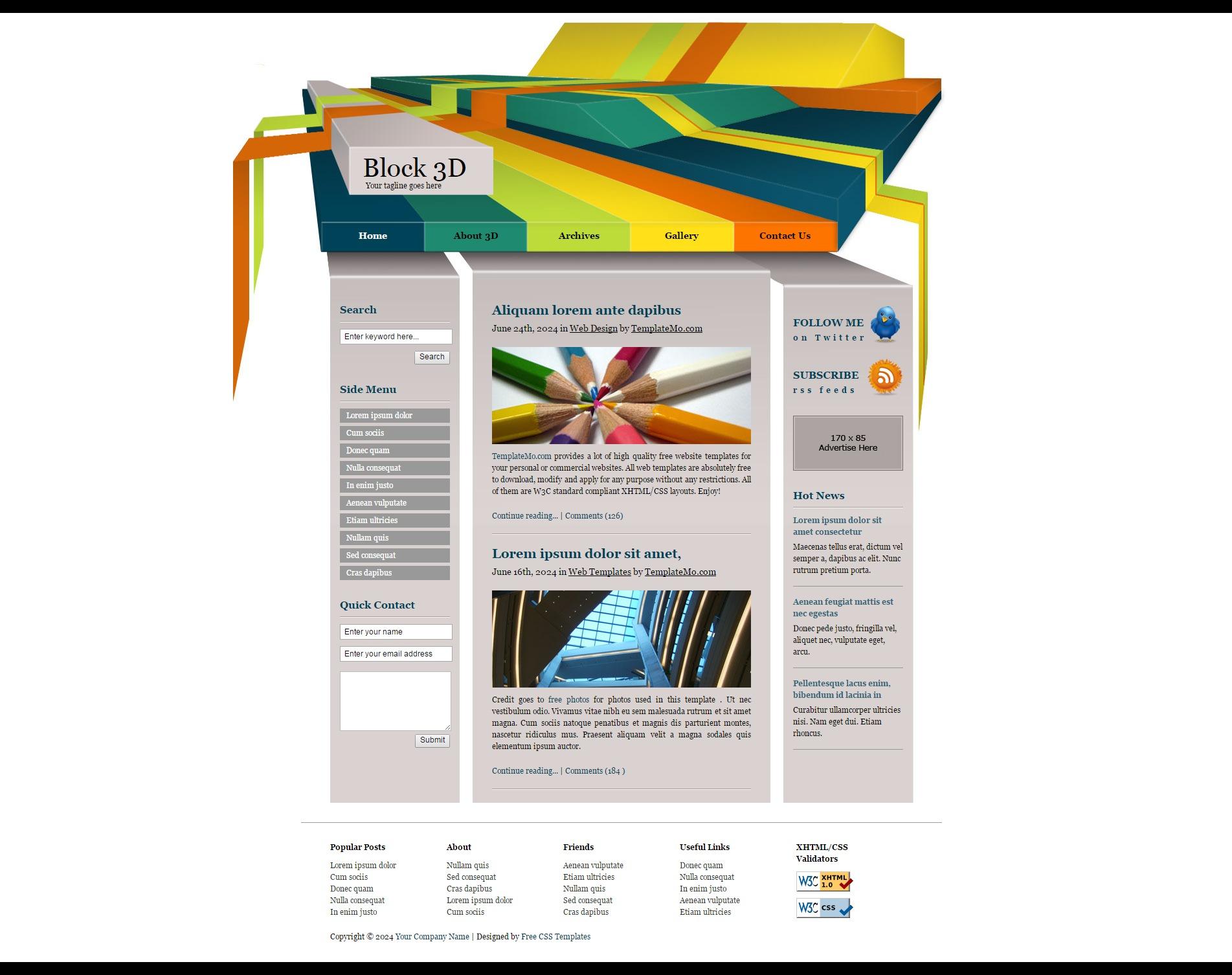 Дизайн сайта в 3d